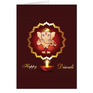 Arrière - plan de festival de Diwali Carte De Vœux