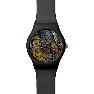 Arrière - plan de graffiti montres bracelet