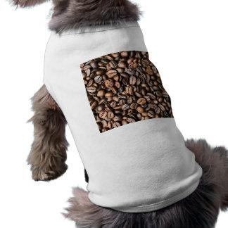 Arrière - plan de grain de café de Brown T-shirt
