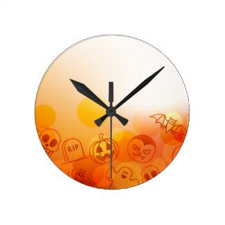 Arrière - plan de Halloween Horloge Ronde