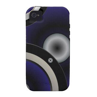 Arrière - plan de haut-parleur de musique étui vibe iPhone 4