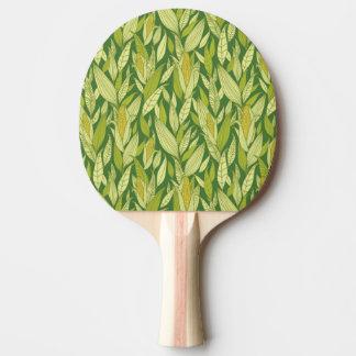 Arrière - plan de motif de plantes de maïs raquette tennis de table