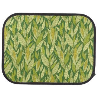 Arrière - plan de motif de plantes de maïs tapis de voiture