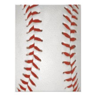 Arrière - plan de motif d'impression du base-ball  tirage photo