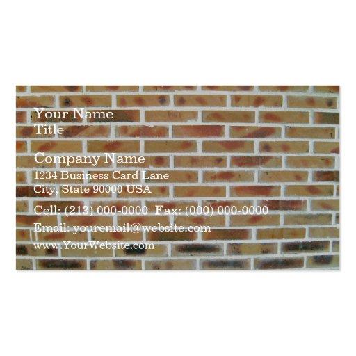 Arrière - plan de mur de briques avec les briques  modèle de carte de visite