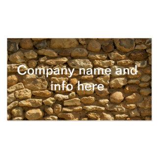 Arrière - plan de mur de briques carte de visite standard