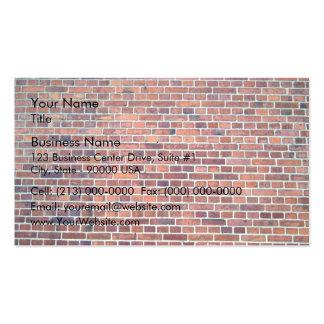 Arrière - plan de mur de briques rouge avec des be carte de visite standard