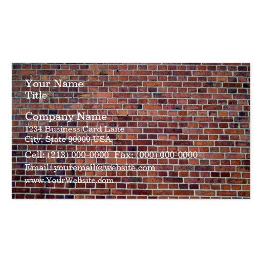 Arrière - plan de mur de briques rouge avec des be cartes de visite professionnelles