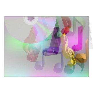 Arrière - plan de musique carte de vœux