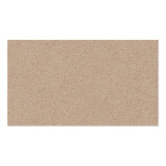 Arrière - plan de papier de Brown emballage Carte De Visite Standard