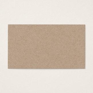 Arrière - plan de papier de Brown emballage Cartes De Visite