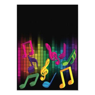 Arrière - plan de partie de musique carton d'invitation  12,7 cm x 17,78 cm