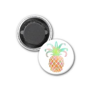 Arrière - plan de PixDezines Aloha Pineapples/DIY Magnet Carré 2,50 Cm