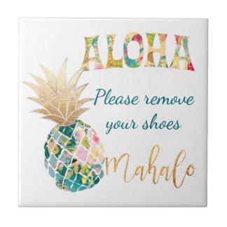 Arrière - plan de PixDezines Aloha Pineapples/DIY Petit Carreau Carré