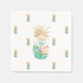 Arrière - plan de PixDezines Aloha Pineapples/DIY Serviettes Jetables