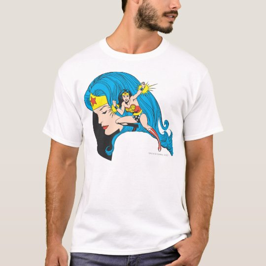 Arrière - plan de profil de femme de merveille t-shirt