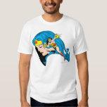 Arrière - plan de profil de femme de merveille t-shirts