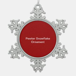Arrière - plan de rouge d'ornement de flocon de ne ornement flocon de neige pewter