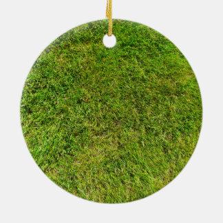 Arrière - plan de texture de motif d'herbe verte ornement rond en céramique