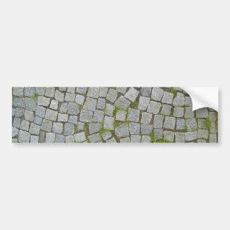 Arrière - plan de texture de route de pavé rond autocollant de voiture