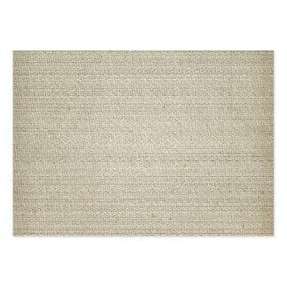 Arrière - plan de toile de coton carte de visite grand format