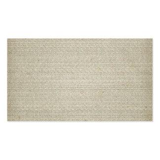 Arrière - plan de toile de coton carte de visite standard