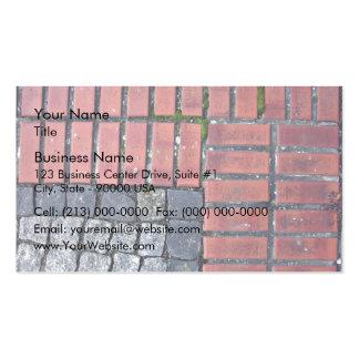 Arrière - plan de trottoir de brique et de pierre modèle de carte de visite