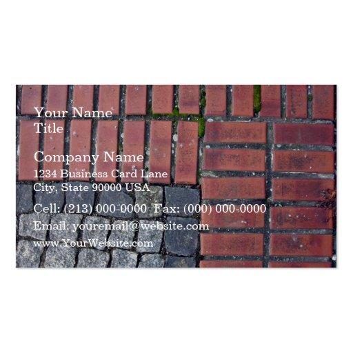 Arrière - plan de trottoir de brique et de pierre carte de visite