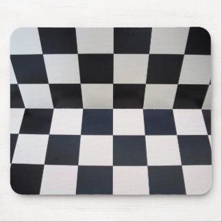 Arrière - plan d'échecs de damier tapis de souris