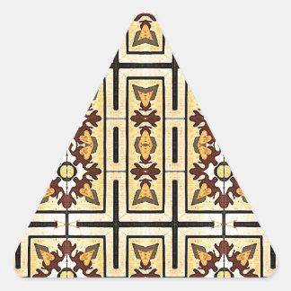 Arrière - plan décoratif de tissu de large écran sticker en triangle
