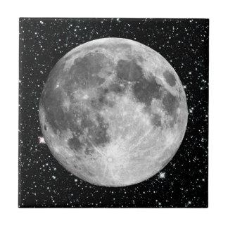 Arrière - plan d'étoile de la LUNE de la TERRE de Petit Carreau Carré