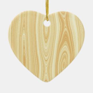 Arrière - plan en bois de texture ornement cœur en céramique