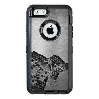 Arrière - plan en métal avec des dommages coque OtterBox iPhone 6/6s