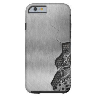 Arrière - plan en métal avec des dommages coque tough iPhone 6