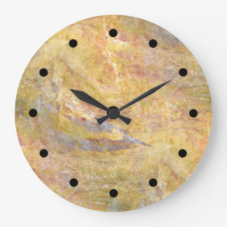 Arrière - plan en pierre moderne grande horloge ronde