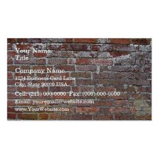 Arrière - plan endommagé de mur de briques modèles de cartes de visite