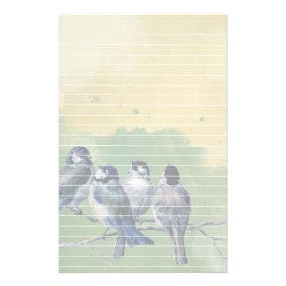 Arrière - plan et lignes bleus d'aquarelle de papeterie