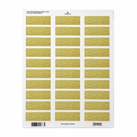 Arrière - plan fait sur commande de feuille d'or étiquette d'adresse retour