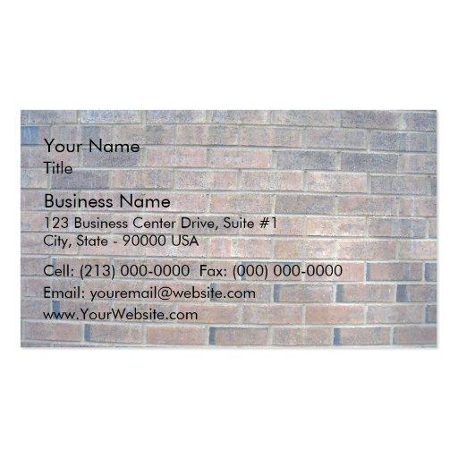Arrière - plan fané de mur de briques modèles de cartes de visite