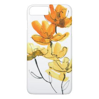 Arrière - plan floral abstrait coque iPhone 7 plus
