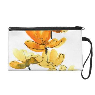 Arrière - plan floral abstrait pochette avec dragonne