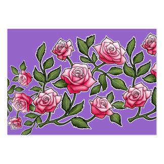 Arrière - plan floral d'améthyste de rose de rose carte de visite grand format