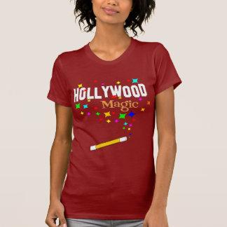 Arrière - plan foncé magique de Hollywood T-shirt