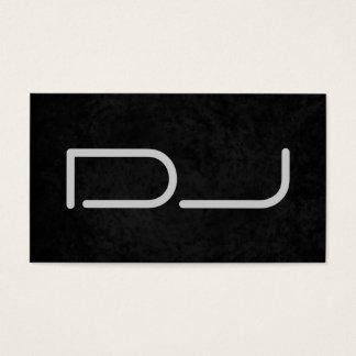 Arrière - plan gris noir élégant du DJ Cartes De Visite