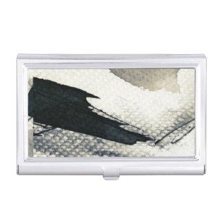 Arrière - plan grunge abstrait, texture d'encre. 4 porte-cartes de visite