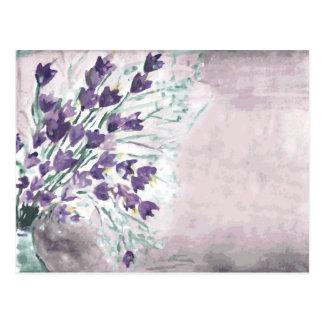 Arrière - plan grunge d'aquarelle avec des cloches carte postale