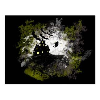 Arrière - plan grunge et affligé de Halloween Carte Postale