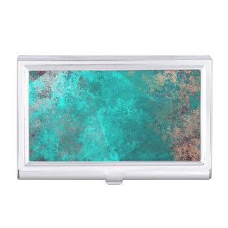 arrière - plan grunge turquoise de texture de boîtiers pour cartes de visite