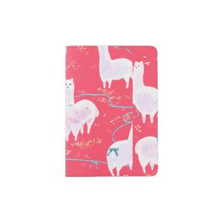 Arrière - plan mignon de rouge d'illustration du protège-passeport