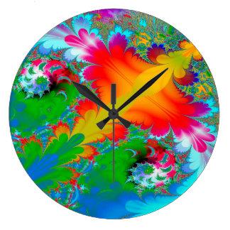 Arrière - plan multi de couleur d'art abstrait grande horloge ronde